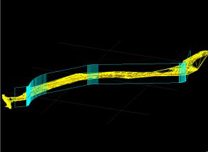 Intersectie 3D intre entitati 3DMESH si un set de 3DFACE