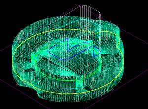 Intersectia dintre un 3DMESH si conversia in 3DFACE a unui 3DSOLID