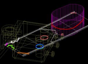 3D Intersectie intre entitati 3DSOLID si 3DMESH