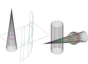 Intersectia 3D dintre 2 seturi de 3DFACE si 3DMESH