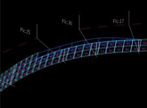 Trasare placi ancorate-Plansa 3D cu placile