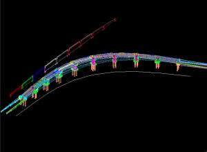 Sectiunea longitudinala desfasurata a unui pod