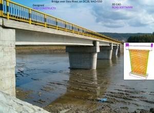 Pod peste Raul Sieu, pe DC28, Km2+550