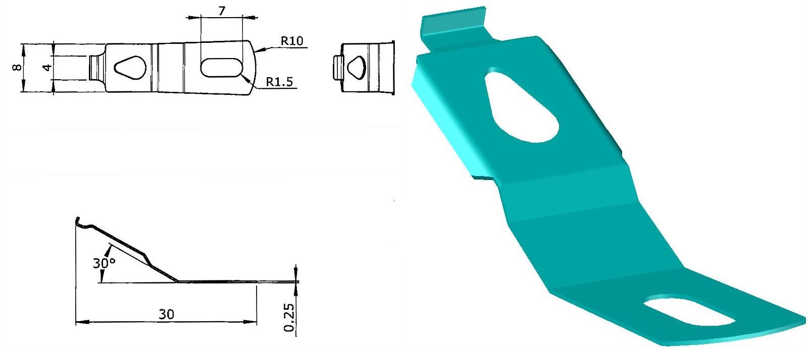 Mecanism de blocare, modelare 3D