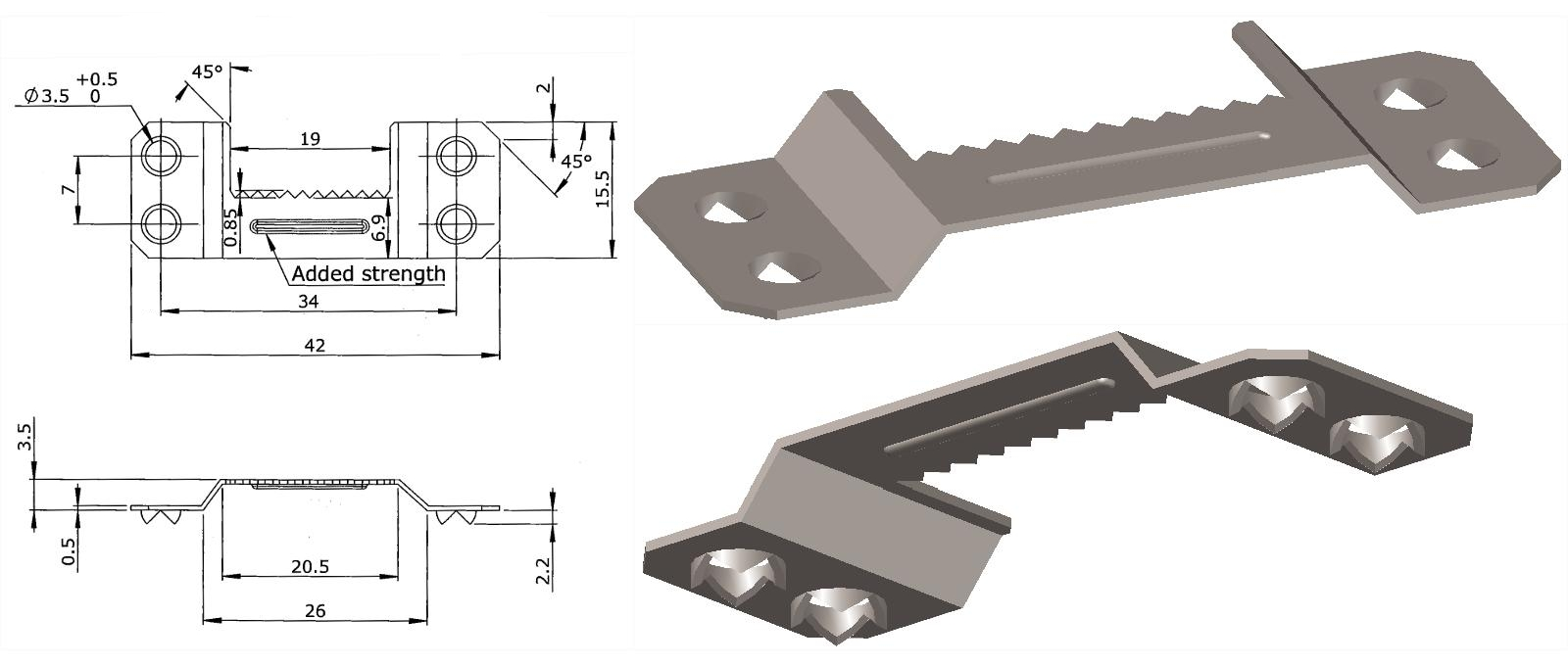 Dispozitiv de suspendare, modelare 3D