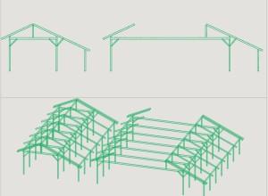 Structura din lemn rezultata din programul GWB, modificata global