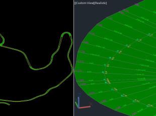 LT_SCALE, Comanda P3D, generare: 3DPOLY, 3DFACE, TEXT