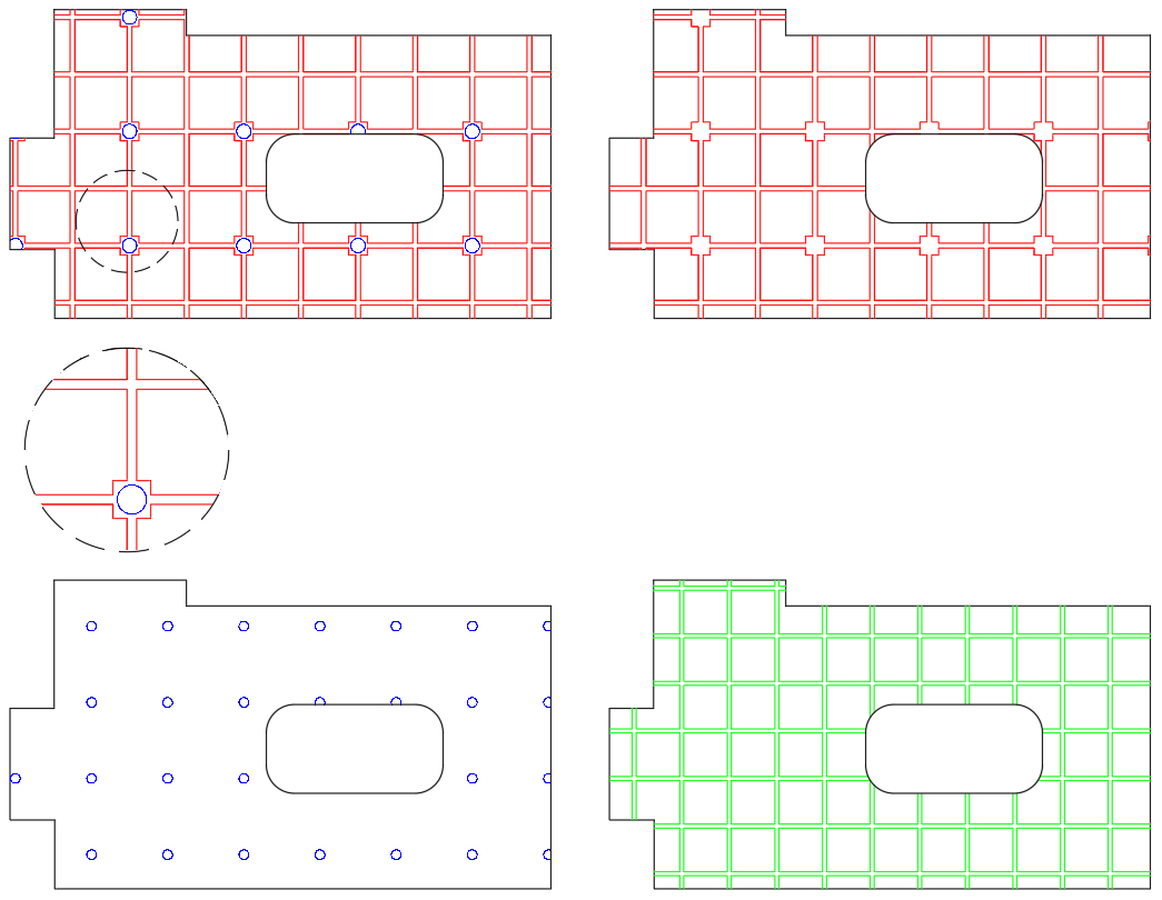 Waffle pod hatch pattern for AutoCAD